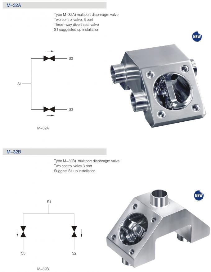 4 inch multi function sanitary diaphragm valve dn80 3 ports 34 inch multi function sanitary diaphragm valve dn80 3 ports ccuart Images