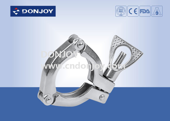Heavy Duty Clamp DIN 10-DN300 Size With Wing Nut Sandblasting Finish