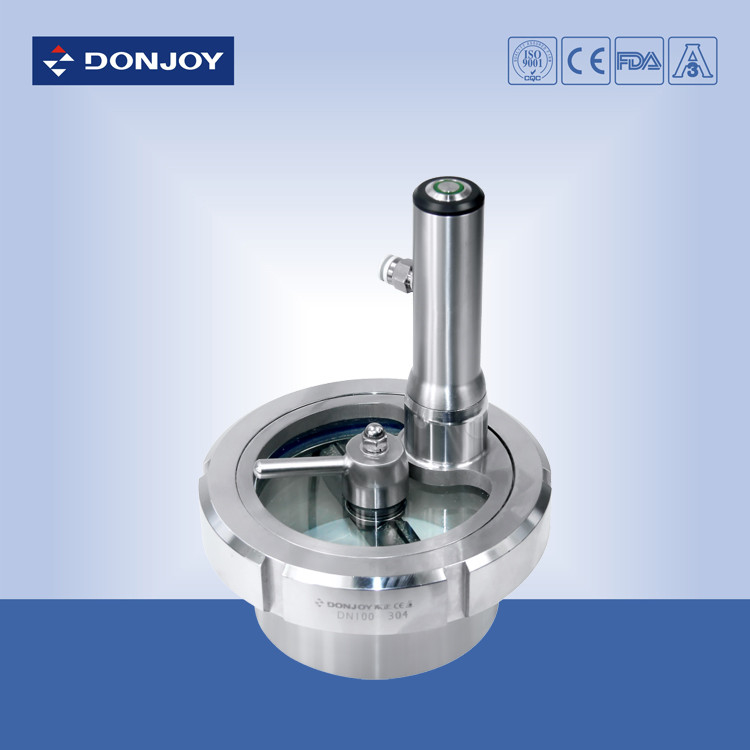 Iso a stainless steel flanged sight glass lighting and