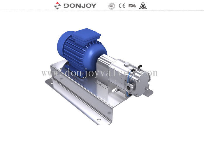 Fluid Control High Purity Pumps , Rotary Lobe Pump Honney Commestic  Food Transfer