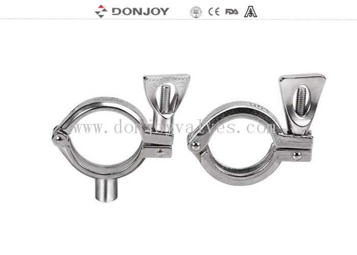 Sanitary Stainless Steel High Pressure Hose / Pipeline Clamp 13MHP SS304