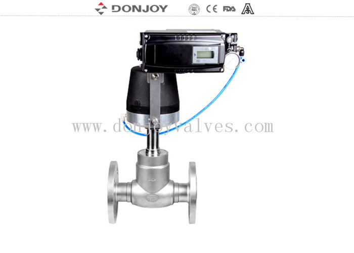 Regulated Flow Adjustable Angle Seat Valve 8 Bar / 10 Bar Working Pressure