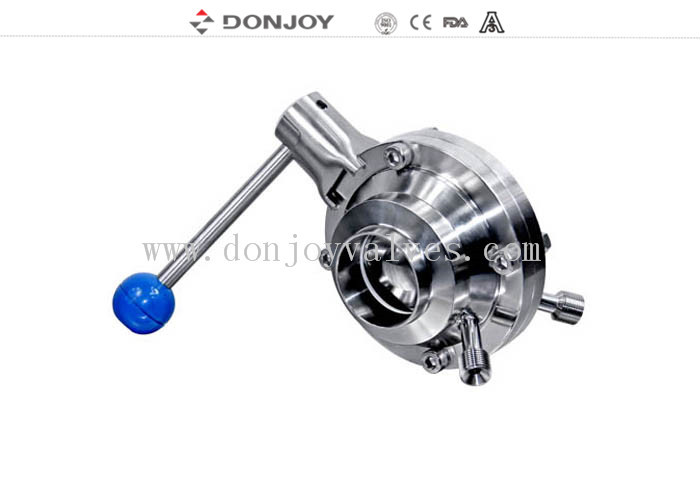 3 INCH 1.4404 Sanitary Ball Valve manual butterfly type with pull handle