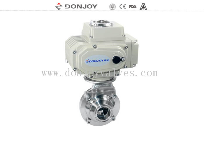 2 INCH 1.4301 butterfly Electric Sanitary Ball Valve with CIP clean function