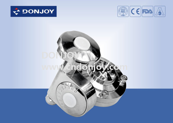 Manual Butterfly Valve Sanitary With Fine Turn Handles , Stainless Steel Valves