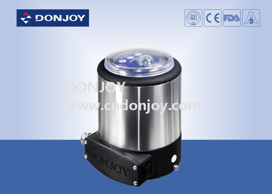 Pneumatic diaphragm valve  with one solenoid valve and two sensor