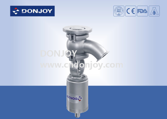 SS304/316 DN40-DN100 Sanitary pneumatic elbow tank bottom valve