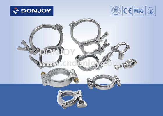 SS304 Stainless Steel Sanitary Fittings Nut for Heavy duty Single Pin Clamp Wing / A / B / C / D Type