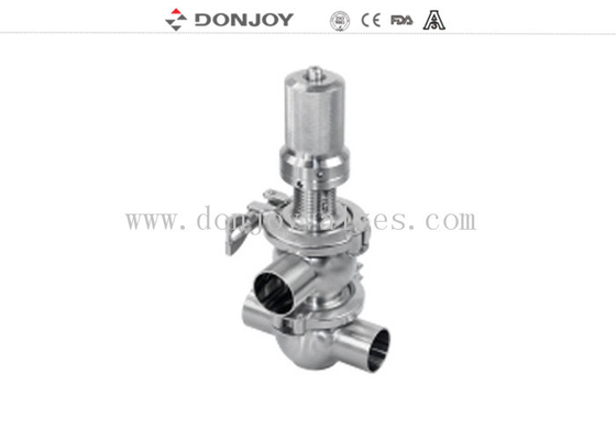 "1""-4""Pneumatic Welded Quick-Release Safety Valve Safety Over Flow Valve Stainless Steel for Diary Food"