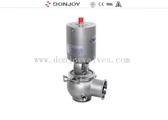 Aseptic Reversing Seat Valve DN25-DN150 with pneumatic actuator 304 / 316L