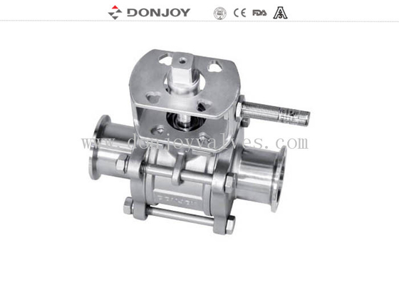 3-pcs Non-retention ball valve,Directly ball valve SS304/316L BPE Standard for food