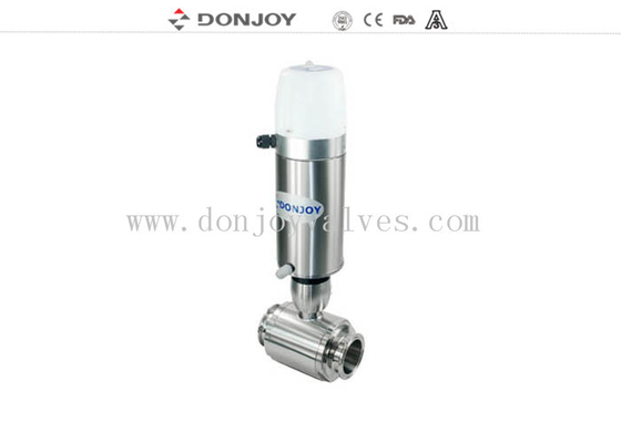 "1/2"" - 1"" Sanitary  ball valve Pneumatic Clamp with Mini C-Top"