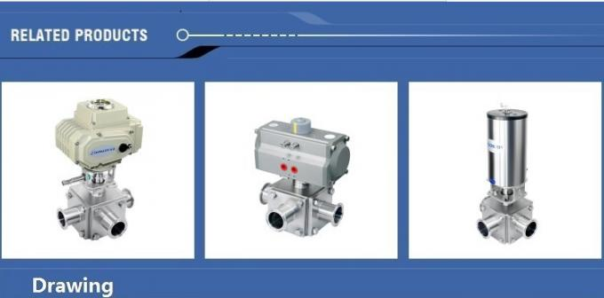 Pneumatic  three-way Ball Valve with intelligent positioner IL-TOP
